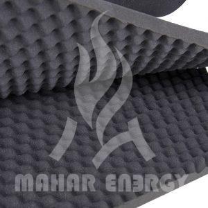 عایق الاستومری صوتی موجدار آکوستیک
